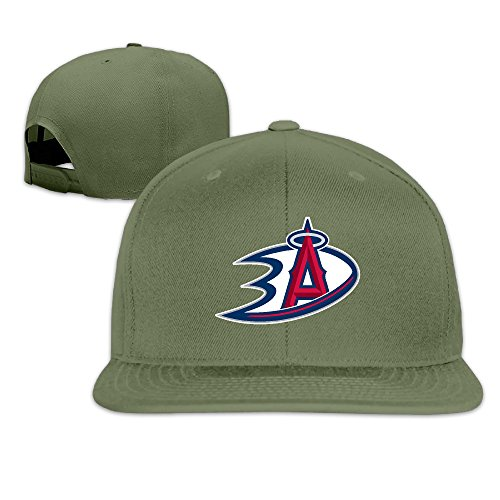 [LINNA Custom Unisex-Adult Anaheim Sports Logo Mixed Flat Brim Baseball Hats ForestGreen] (Raptors Mascot Costume)