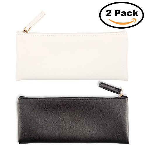 PU Leather Pencil Case Pouch Bag,Small Simple Pencil Pouch,M