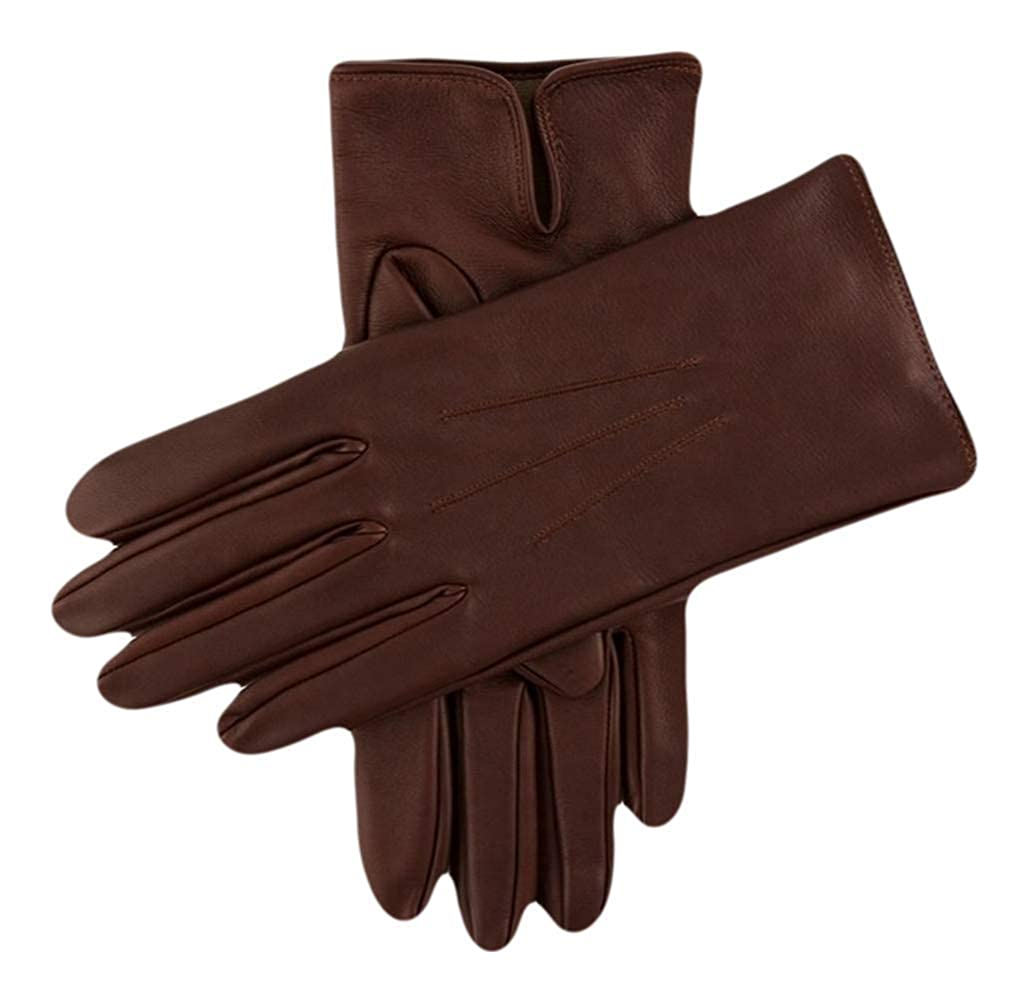 Dents Mens Berkeley Silk Lined Leather Gloves English Tan//Beige