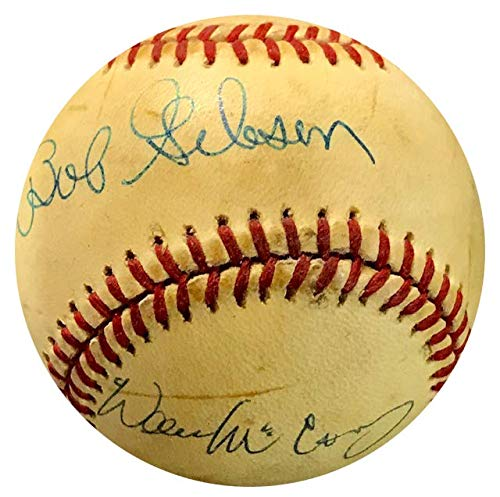 Bob Gibson & Willie McCovey Autographed Official National League Baseball
