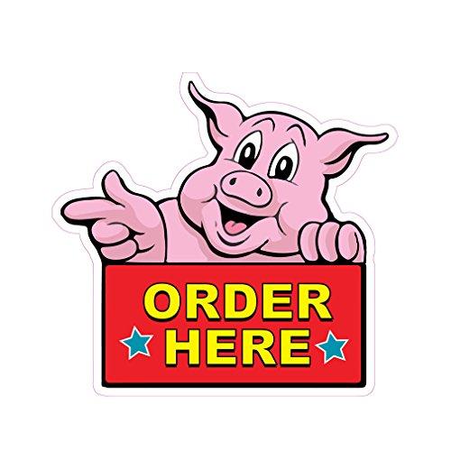 Order Here Concession Restaurant Food Truck Die-Cut Vinyl Sticker 14 inches