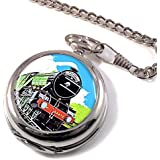 Flying Scotsman Trains Full Hunter Pocket Watch