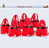 MSQ 10pcs Candy Bags Gift Bags Santa Pants Style Xmas Bags