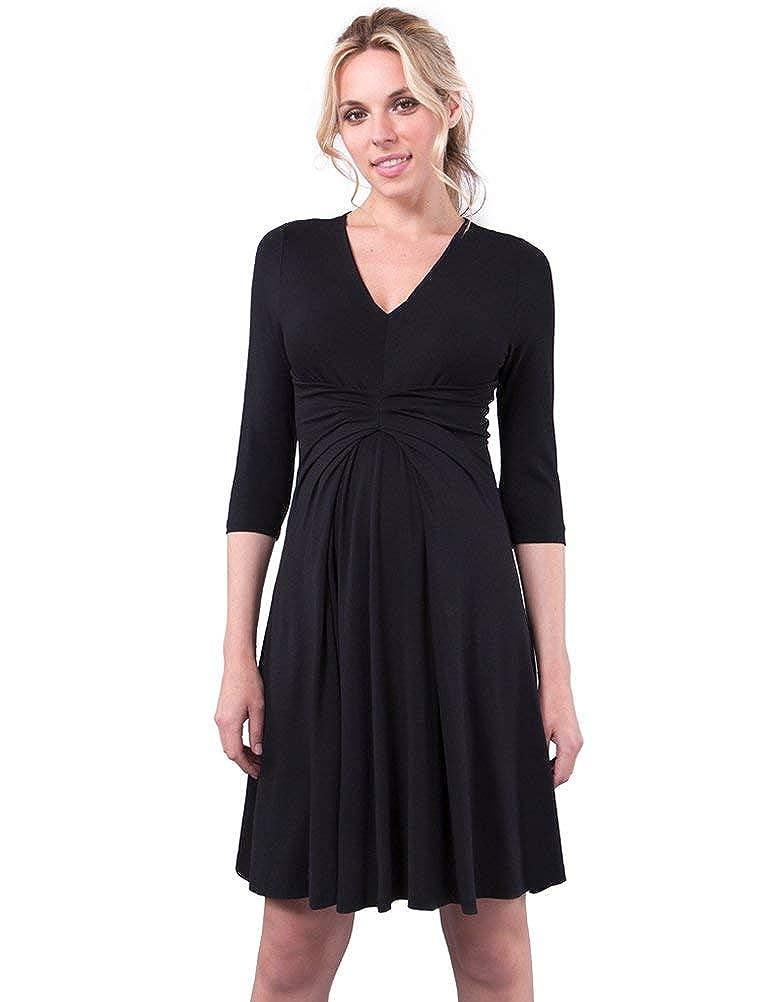 Seraphine Women's 3 4 Sleeve Empire Detail Black Maternity Dress