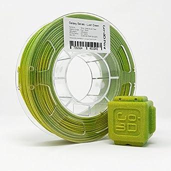 go-3d verdes de oro Flake Temperatura Cambio De Color impresora 3d ...