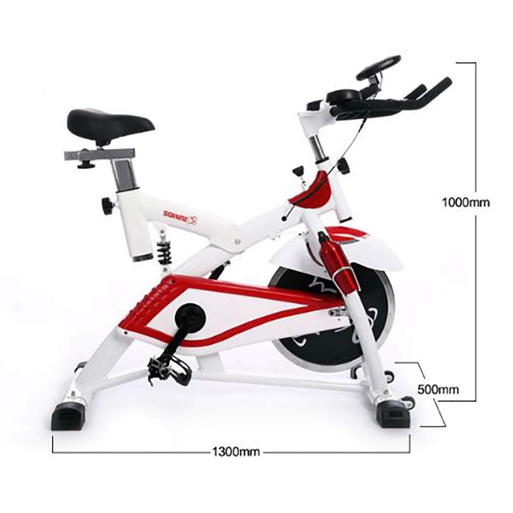 静止したベルトドライブ、練習のための静的な自転車フライホイールの心拍センサーが付いているカーディオ運動器具LCD表示調節可能な座席,赤 赤