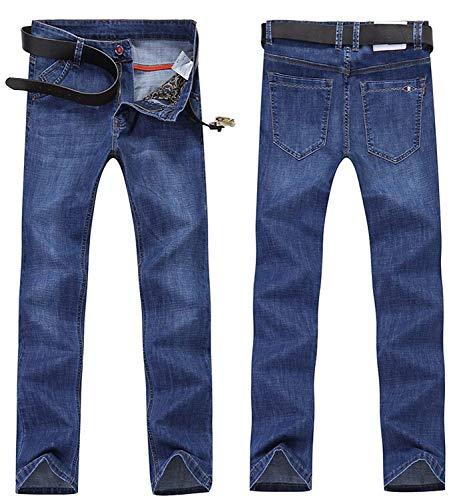 Estilo Colour Regolari Tutti Especial Jeans Lunghi Diritti Progettista Degli Del Regola Extra Misura Mens Dei Uomini Di Stirata 4zxUfwqqTW