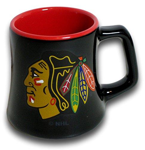 Chicago Glass Blackhawks - Boelter Chicago 2 Ounce Sculpted Ceramic Mini Shot Glass Mug - Series 2