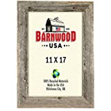 barnwoodusa rustic 11x17 inch picture frame 2 inch wide 100 reclaimed wood weathered gray