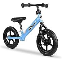 """Kids Balance Bike Ride On Toys Push Bicycle Wheels Toddler Baby 12"""" Bikes-Blue"""