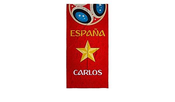 Lolapix Toalla Selección Española Personalizada Algodón España Mundial. Varios Tamaños: Amazon.es: Hogar