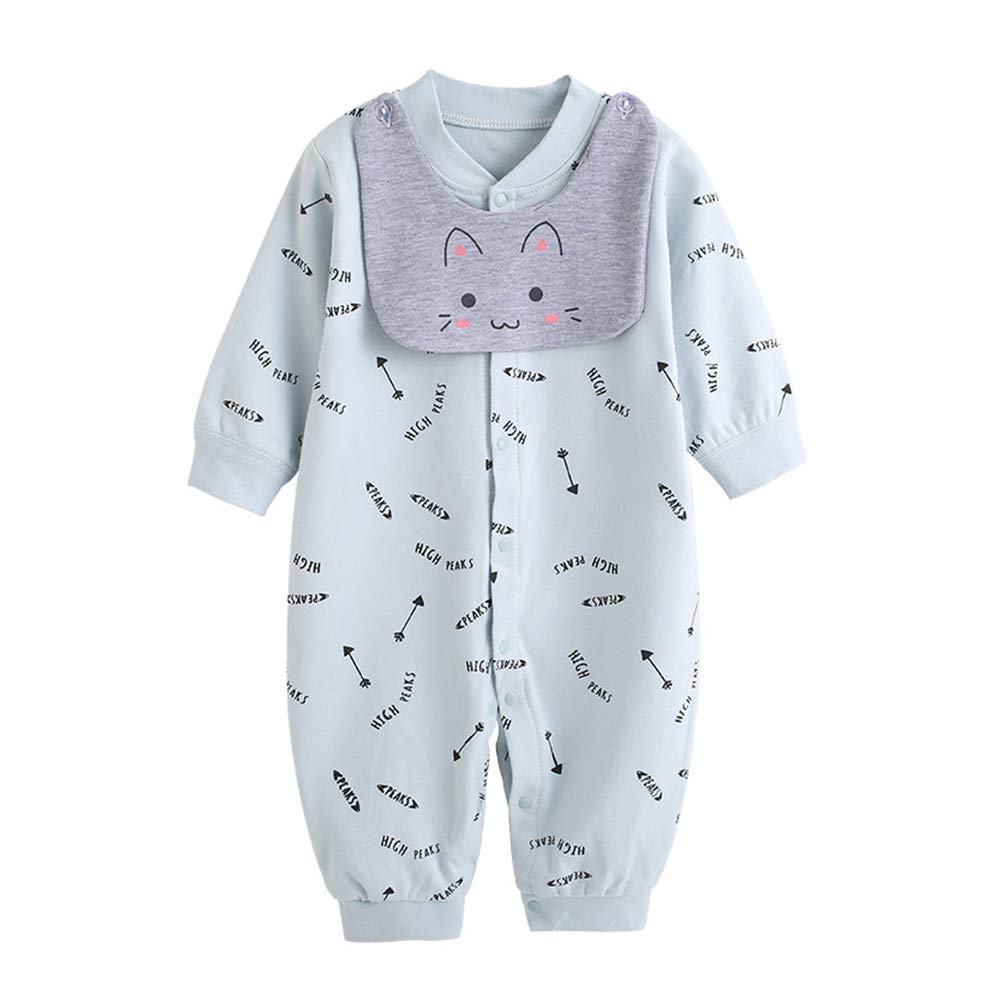 Feidoog Infant One-piece Suit Pajamas Baby Boys and Girls Romper,Baby Cotton Long Sleeve Romper Jumpsuits Bodysuits