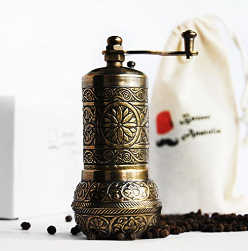 Bazaar Anatolia Turkish Handmade Grinder, Spice Grinder, Salt Grinder, Pepper Mill 4.2'' (3-Antique...