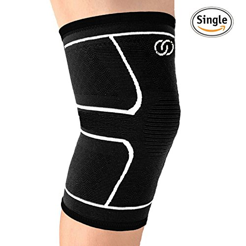Knee Brace Compression Sleeve Support By Compressions   Best For Meniscus Tear  Arthritis  Acl  Running  Jogging  Sports  Joint Pain Relief And Injury Recovery   Single Wrap For Men And Women  Medium