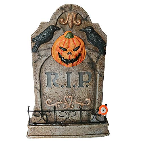 Totally Ghoul LED Lighted Tombstone - RIP Pumpkin