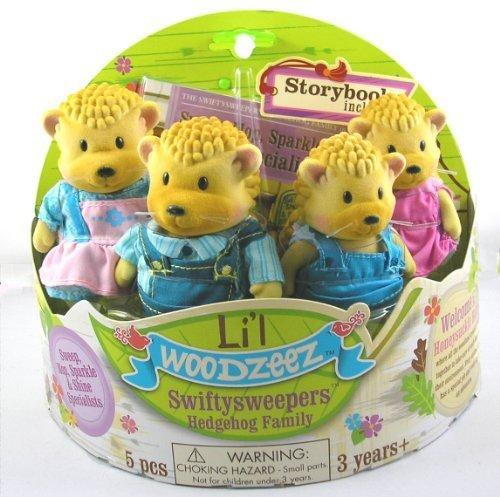 Li'l Woodzeez Swiftysweepers Hedgehog Family