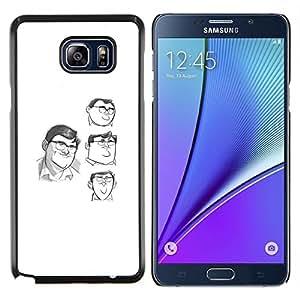 LECELL--Funda protectora / Cubierta / Piel For Samsung Galaxy Note 5 5th N9200 -- blanco dibujos animados carácter cómico boceto --