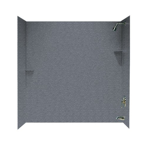 Swanstone SS-60-3-012 Solid Surface Bathtub Wall Panel Sy...