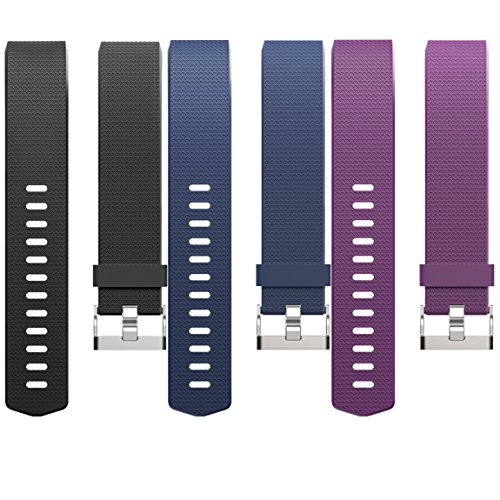For Fitbit Charge 2 Bands(3 Pack), Maledan Replacement Accessory Wristbands for Fitbit Charge 2 HR, Large Small