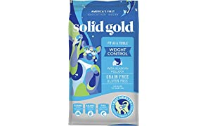 Solid Gold - Fit as a Fiddle with Fresh Caught Alaskan Pollock - Grain Free & Gluten Free - Holistic Weight Control Adult Dry Cat Food - 12lb Bag