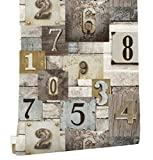 HaokHome 3804 Vintage Distressed Wood Wallpaper Weathered Murals Brown/Grey Multi for Home Wall Kitchen Bathroom 20.8''x 33ft