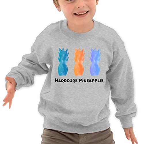 Puppylol Hardcore Pineapple Kids Classic Crew-neck Pullover Sweatshirt Ash 2 Toddler (Parade Halloween San Francisco)