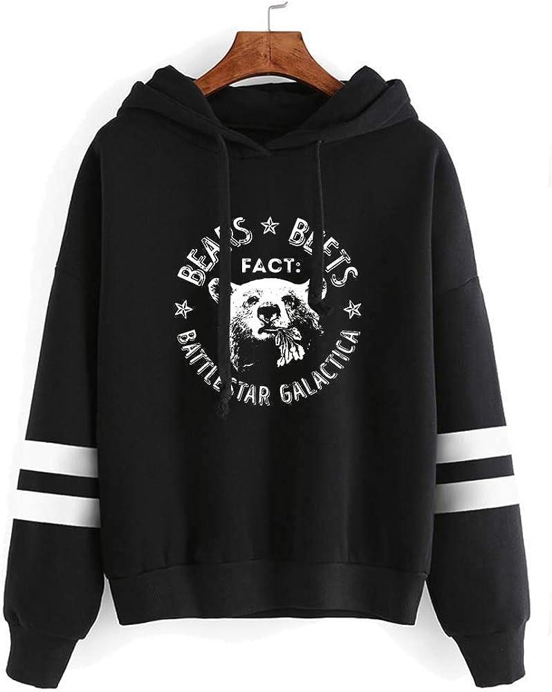 MISISI Unisex The Office Adult Hoodie,Bears Beets Battlestar Galactica Hooded Sweatshirt,Mash-Up Sportswear Pullover