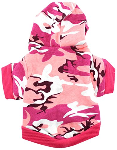 smalllee_lucky_store Camouflage Hooded Shirt for Small Dogs, Large, - Store Hong Kong
