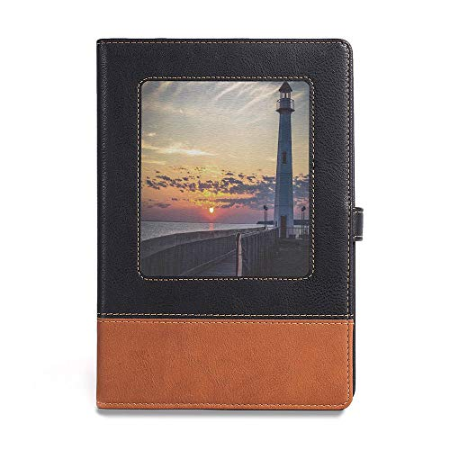 Soft Cover Notebook,Lighthouse Decor,A5(6.1