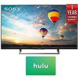 Sony XBR-49X800E 49-inch 4K HDR Ultra HD Smart LED TV (2017 Model) w/Hulu $25 Gift Card + 1 Year Extended Warranty