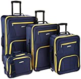 Rockland Luggage 4 Piece Set, Navy, One Size