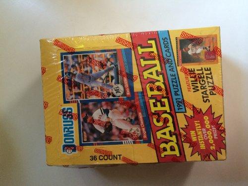 [1991 Donruss Series 1 Baseball Card Pack Factory Sealed Box] (1991 Donruss Baseball)