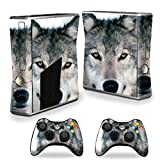 xbox 360 slim skins for console - MightySkins Skin For X-Box 360 Xbox 360 S console - Wolf | Protective, Durable, and Unique Vinyl Decal wrap cover | Easy To Apply, Remove, and Change Styles | Made in the USA