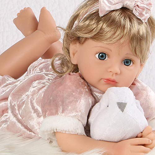 Paradise Galleries Reborn Toddler Girl - Snow Bird, 18 inch Realistic Doll in GentleTouch Vinyl & Weighted Body, 6-Piece Gift Set ()