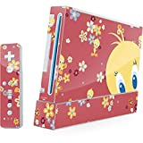 Looney Tunes Wii (Includes 1 Controller) Skin - Tweety Flowers Vinyl Decal Skin For Your Wii (Includes 1 Controller)