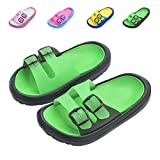 Toddler Little Kids Summer Sandals Non-Slip Boy Girl Slide Lightweight Beach Water Shoes Shower Pool Slippers (Little Kid 11-12M, Green)