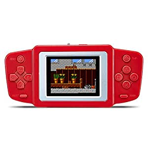 "JXD 2.5"" LCD Handheld Portable Vedio Game Console Built-in 268 Classic Games Rechargable Li-polymer Battery or Dry Battery Best Gift for Kids (GM01025RedUS)"