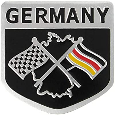 1Pc Grille Germany Flag Emblem Badge Sticker For Audi A3-A6