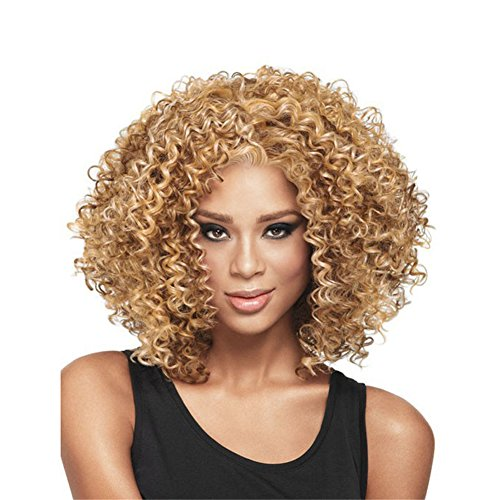 Sexy Synthetic Afro African Medium American Women Wig Hair Fashion For 4 Curly 2 Varmhus HdqwnCXH