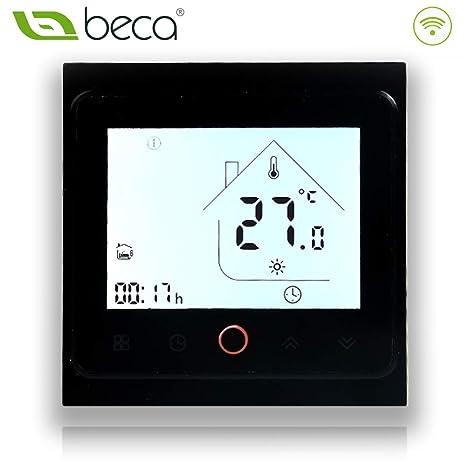 BECA 002 Serie 3 / 16A Pantalla táctil LCD Agua/Calefacción eléctrica/Caldera Termostato