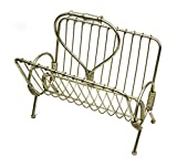 Sagebrook Home 10980 Metal Magazine Holder, Gold Metal, 15.5 x 11 x 16 Inches