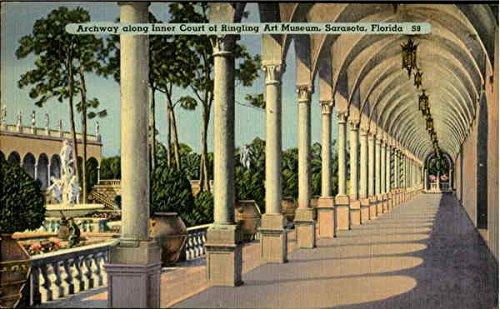 Archway Along Inner Court Of Ringling Art Museum Sarasota, Florida Original Vintage Postcard