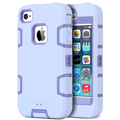 KNOX ARMOR iPhone 4 Case,Apple iPhone 4 4S Case,ULAK Shockproof Heavy Duty Combo Hybrid Defender High Impact Body (Iphone 4s Case Body Armor)