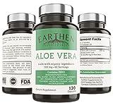 Best Aloe Vera Capsules - Organic Aloe Vera Supplement Equivalent to 20,000mg- RAW Review