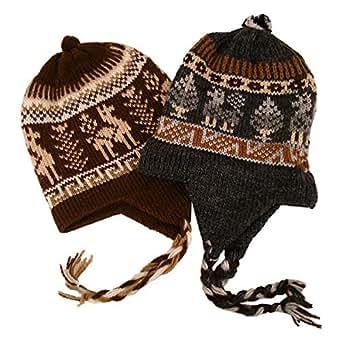 Amazon.com: #2995Chullo Peru Ski Hat Alpaca Wool Winter