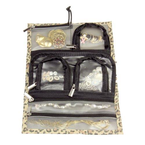 Household Essentials Tri-Fold Travel Jewelry Organizer, L...