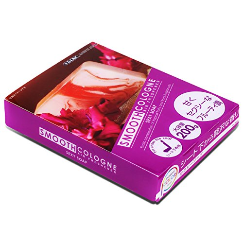 Smooth Cologne Gel Based Sexy Soap Scent Japanese Under-The-Car Air Refresher / Odor Eliminator Brick (Purple)