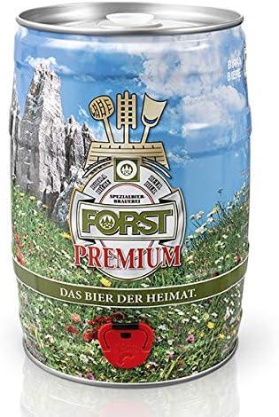 Forst Fustino da 5 litri (vuoto a perdere) con pratico spillatore INCORPORATO - Birra Bionda