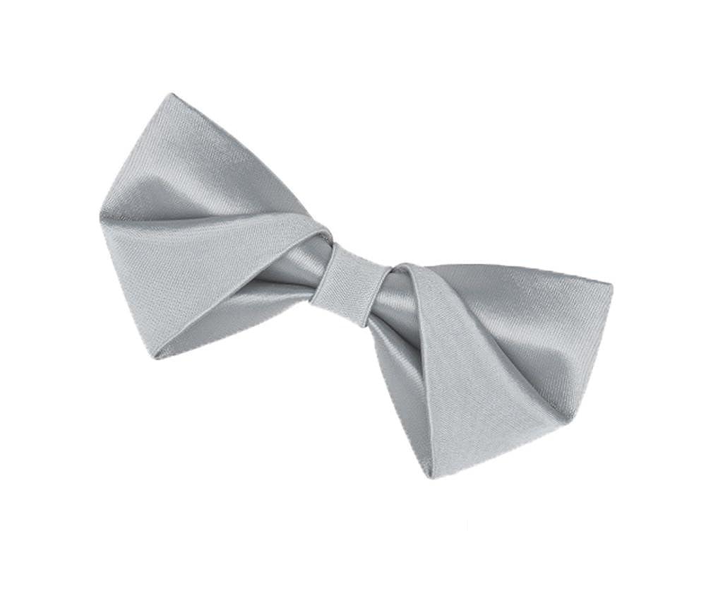 Wsysnl Light Gray Mercerized Hand Made Bow Tie