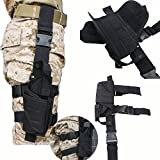 Tactical Army Black Pistol/Gun Drop Leg Thigh Holster Police Security Modular Equipment System Duty Belt Nice Molded Nylon Set